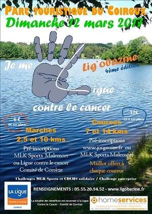 LIGOBAZINE courses marches cancer Aubazine home services