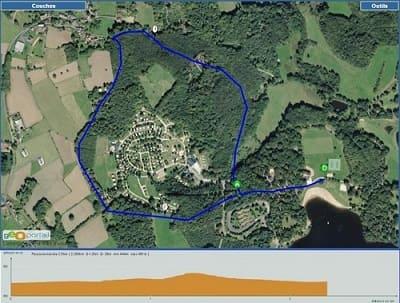 parcours pour la marche lieux descente Aubazine